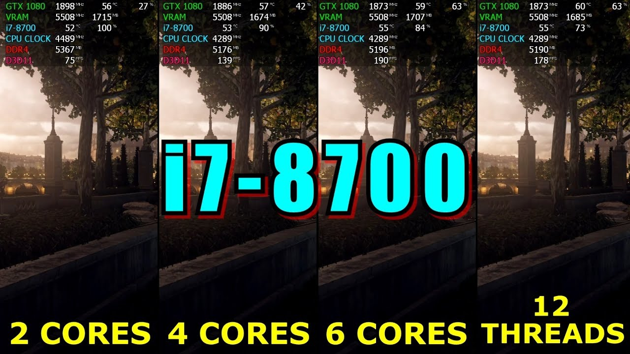 2 Cores vs 4 Cores vs 6 Cores vs 12 Threads ( How many cores need