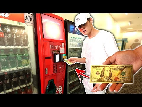 USING FAKE MONEY IN VENDING MACHINE HACK!   David Vlas