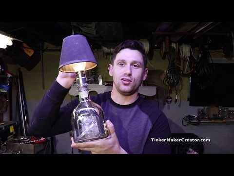 How to make a Patrón Bottle Lamp!