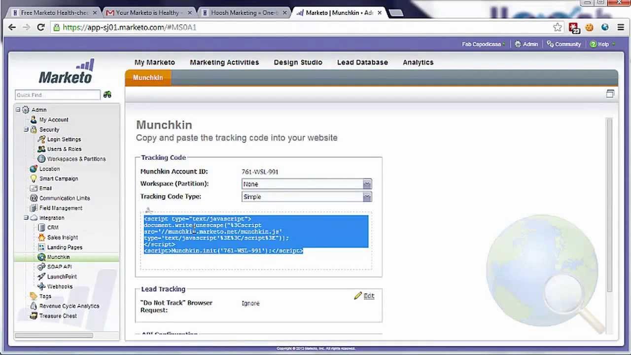 Marketo Munchkin - Marketo Help - Tutorial - YouTube