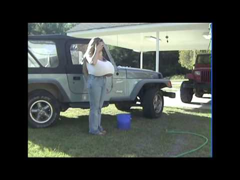 Chelsea Charms washes her Jeep Part 2 thumbnail