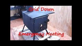 SHTF Emergency Preparedness How to heat small buildings with a portable woodstove