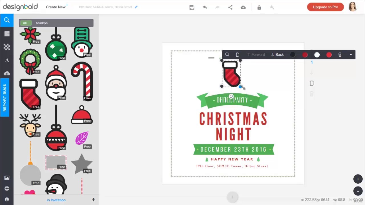Office Christmas Party Invitation card Ideas and Design - YouTube