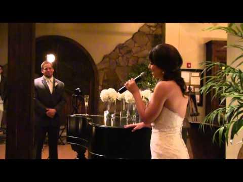 """Valentine"" Martina McBride: Bride Sings To Groom For Wedding Day"