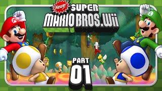 Newer Super Mario Bros. Wii - 4-Player - World 1 (1/2)