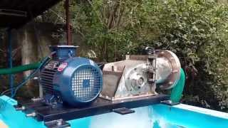 Pico Cross Flow Turbine running on a test bench-1-Silverboat Technologies