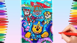Paw Patrol Sea Patrol Adventures Poster | Drawing and Coloring Paw Patrol Coloring Pages for Kids