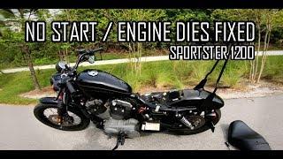 Harley Sportster Won't Start / Engine Dies EASY FIX!   Doovi