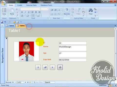 [HD] How To Create Form Insert Photo With MS ACCESS 2007