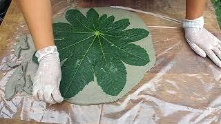 Como Fazer Folhas no Cimento – Mega Facil
