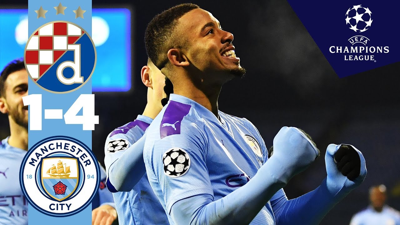 Dinamo Zagreb 1 4 Man City Highlights Gabriel Jesus Hat Trick Phil Foden Youtube