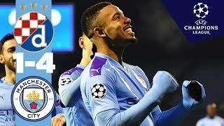 DINAMO ZAGREB 1-4 MAN CITY | HIGHLIGHTS | Gabriel Jesus Hat-Trick, Phil Foden