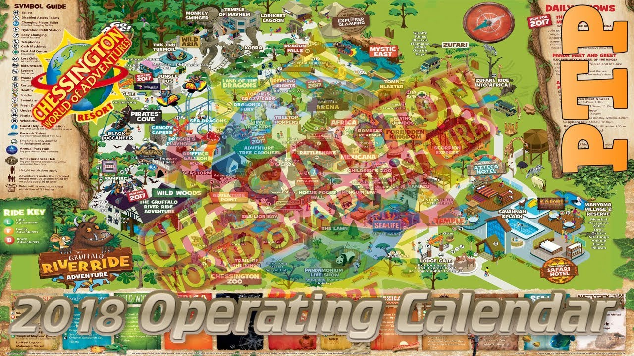 Image result for chessington world of adventures map 2018