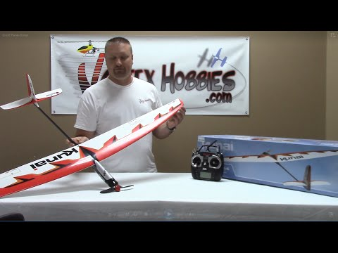 Great Planes Kunai - Powered Glider Review & Test Flight - Vortex Hobbies