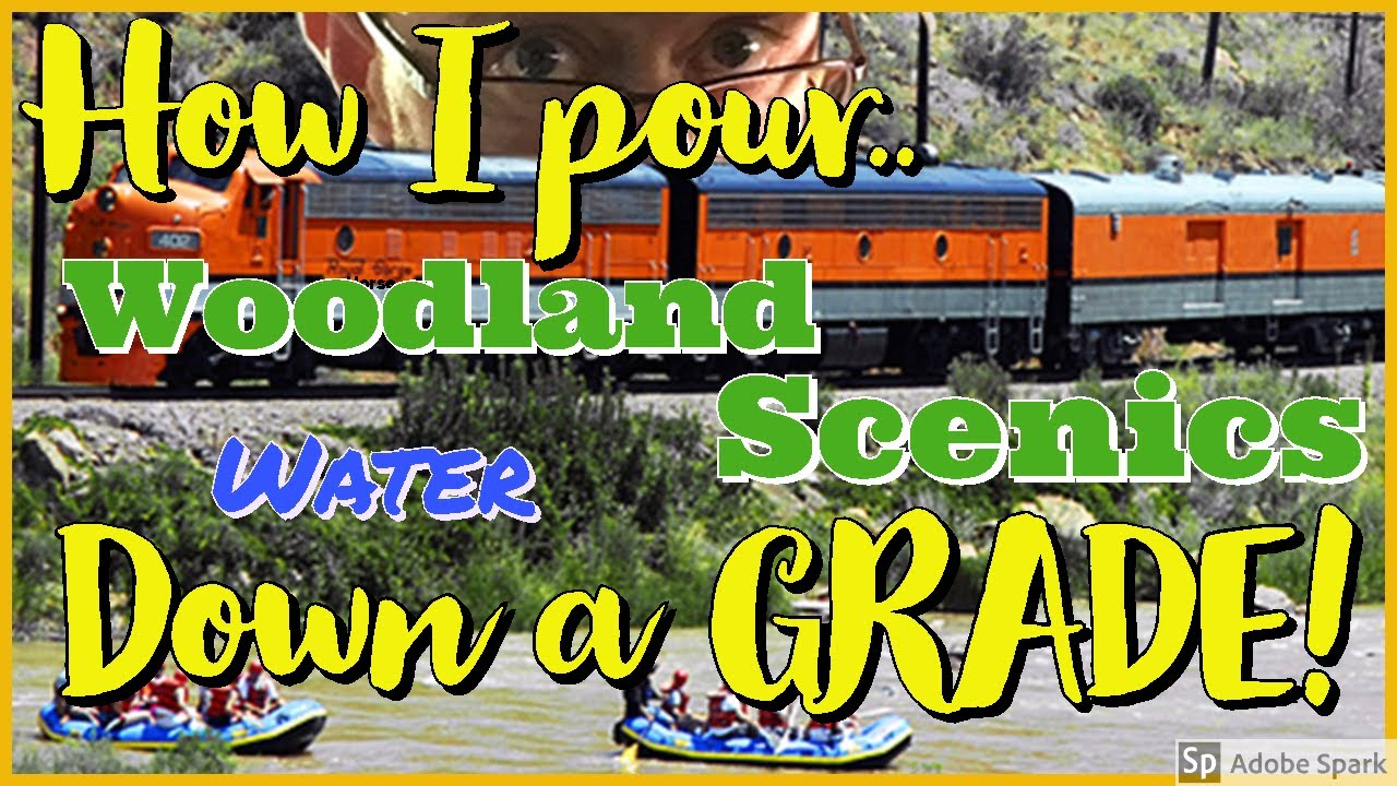 How I Pour Woodland Scenics Deep Pour Clear Water Down a Grade on My N  Scale Model Railroad - JSSS V