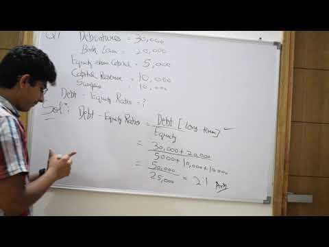Debt-Equity Ratio, Solvency Ratios, Accounting Ratios, 12th class Accountancy