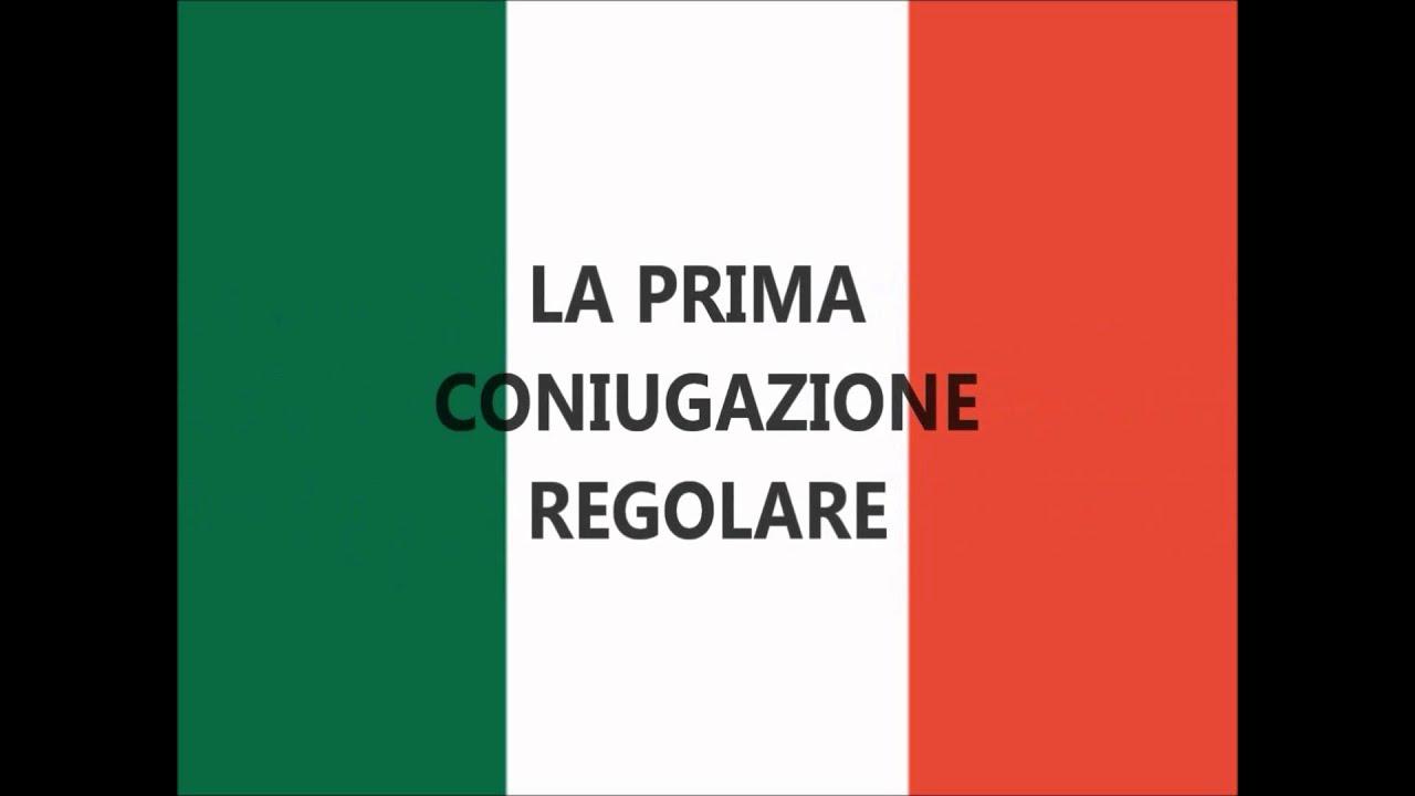 Lezioni Di Italiano Prima Coniugazione Regolare Completa