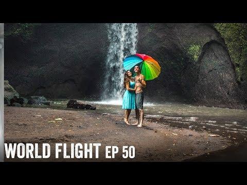 BALI WATERFALL ADVENTURES! - World Flight Episode 50
