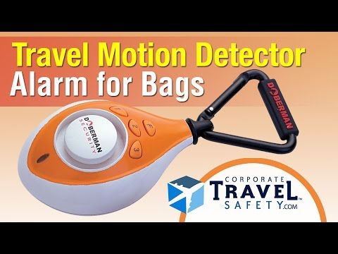 Travel Motion Detector Alarm for Luggage and Bags