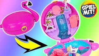 POLLY POCKET Flamingo Floatie | Schwimmbad Pool & Puppen Welt für Miniature dolls Spiel mit deutsch