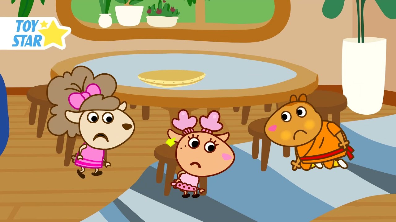 Friends Have Lost Something. Funny Cartoon for Kids
