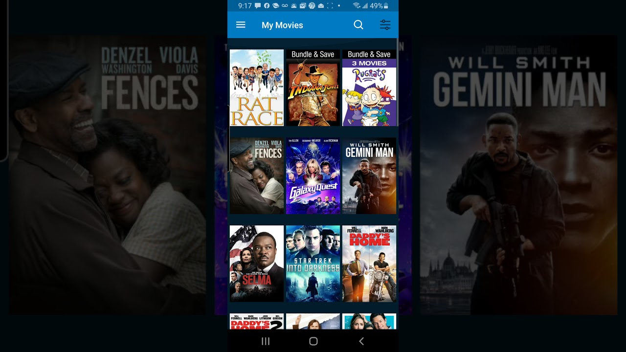 Download my VUDU paramount movie collection