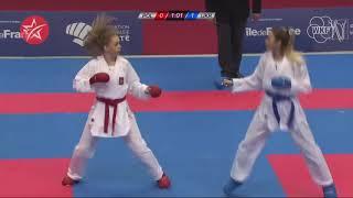 Dorota Banaszczyk POL   Anzhelika Terliuga UKR   Karate 1 Paris 2019   Final Kumite  55 KG 1
