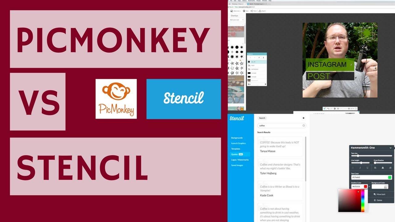 PicMonkey VS Stencil - Comparing Free Graphic Tools