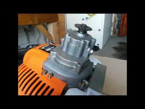 Редуктор насадка для триммера (мотокосы) для мини-мото техники