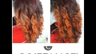 Red Fire Balayage Ombre Hair