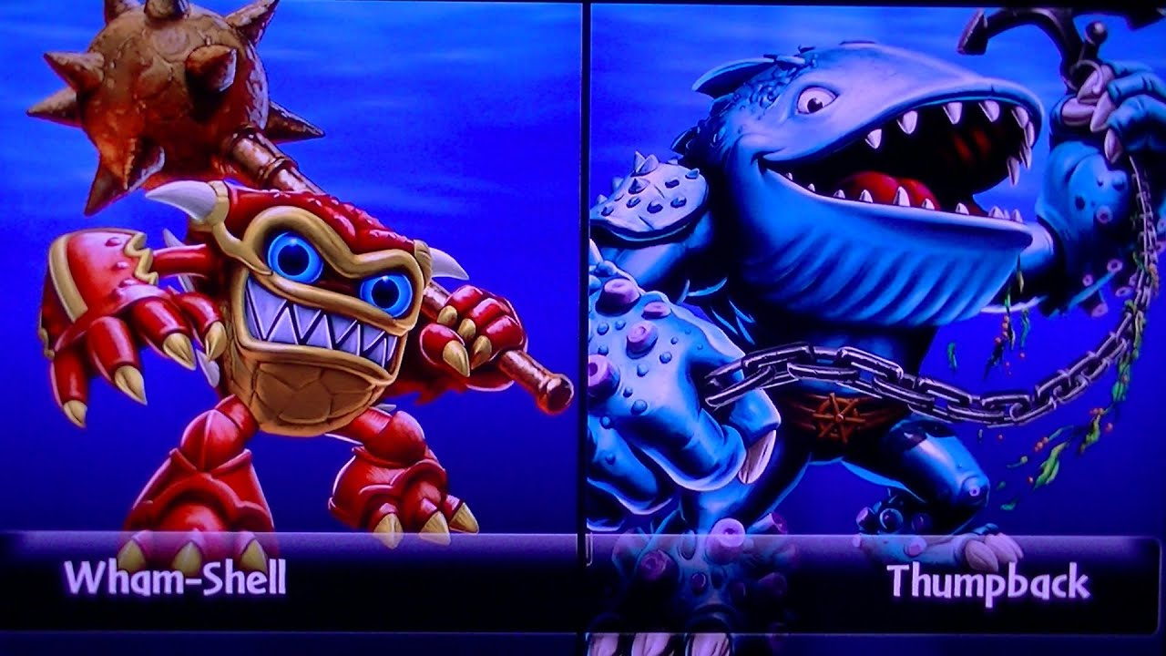 Skylanders giants wham shell vs thumpback youtube - Skylanders thumpback ...