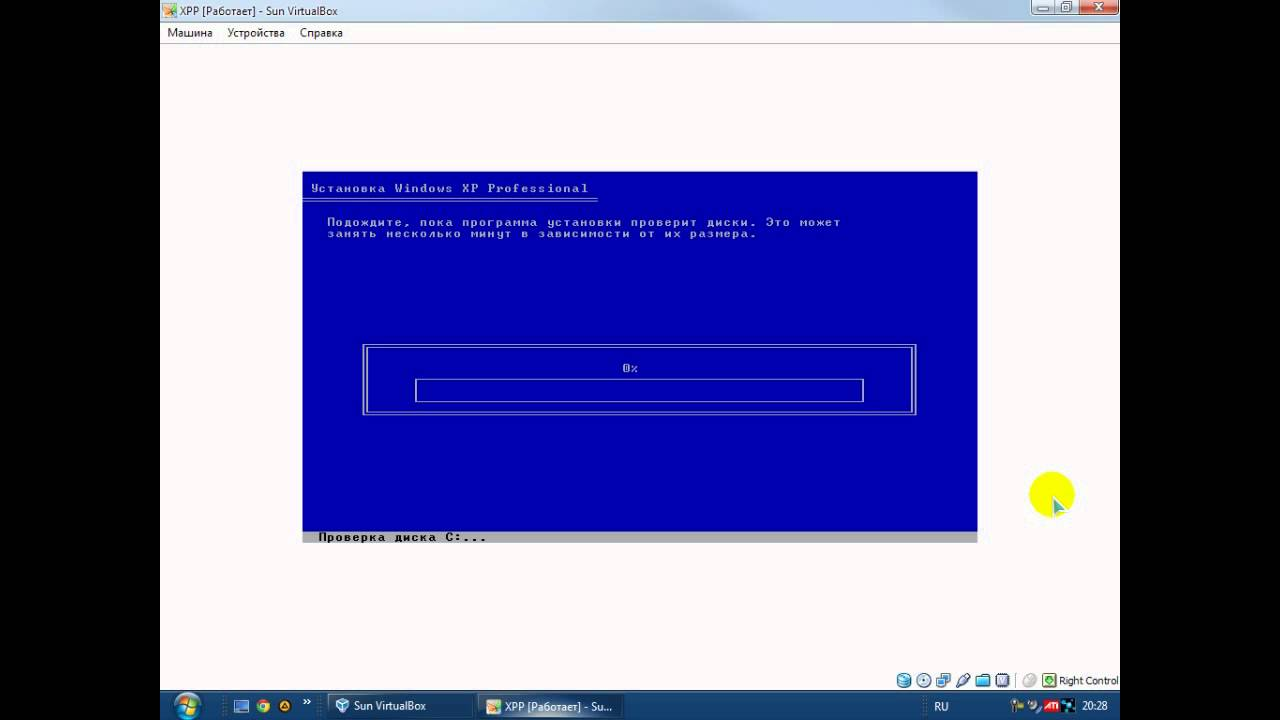 Установка Windows XP Chip из под BIOS.