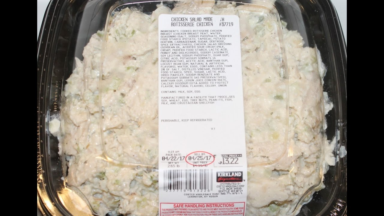 Kirkland Signature Costco Chicken Salad Made With Rotisserie Chicken Review