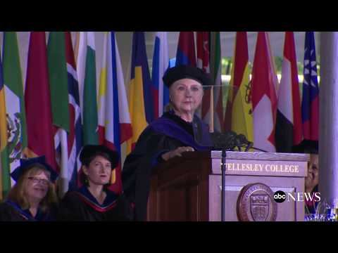 Hillary Clinton delivers Wellesley College commencement addr