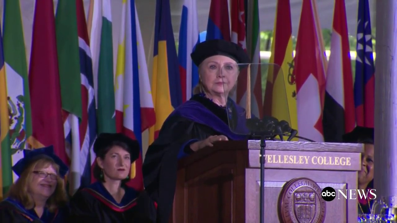 WATCH: Hillary Clinton addresses Wellesley College graduates