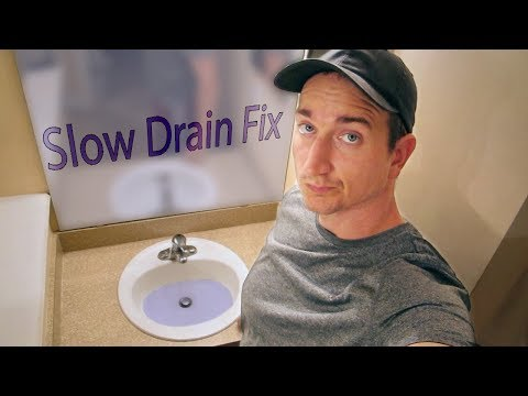 Bathroom Sink Slow Drain DIY Fix
