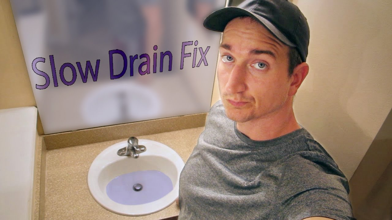 Bathroom Sink Slow Drain Diy Fix Youtube