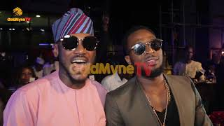 THE MOMENT D'BANJ SOUGHT 2BABA'S MARRIAGE ADVICE AT OMOTOLA JALADE'S 40TH BIRTHDAY