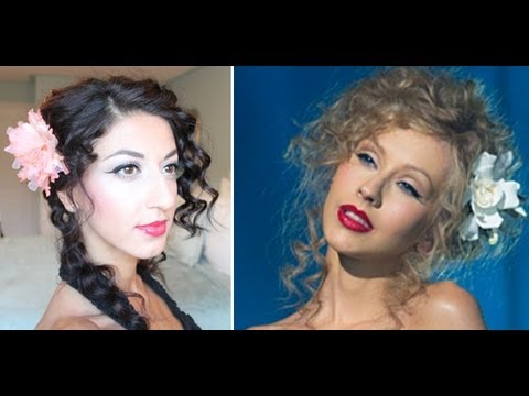 Christina Aguilera Burlesque Inspired Hair