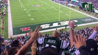 Fireman Ed leads JETS chant vs Buffalo