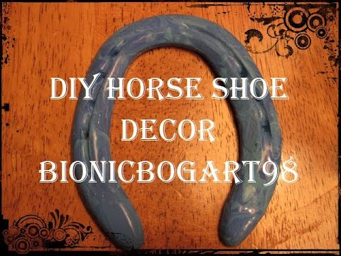 Diy horse shoe decor audrey youtube for How to decorate horseshoes
