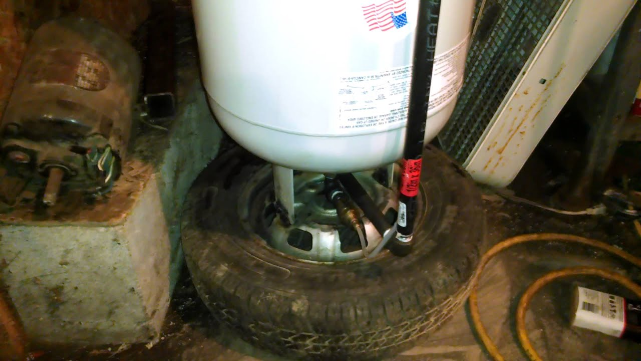 100 Lb Propane Tank Homemade Air Compressor For My Garage