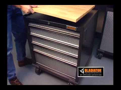 Gladiator Workbench And Base Cabinets Youtube