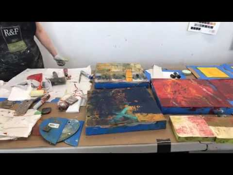 Lisa Pressman Live Demo: oil , cold wax and mixed media