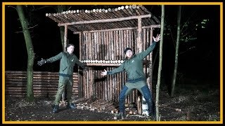 Bushcraft Camp [S05/E07] Holznagel-Massaker und Dach 😱 - Outdoor Bushcraft Deutschland