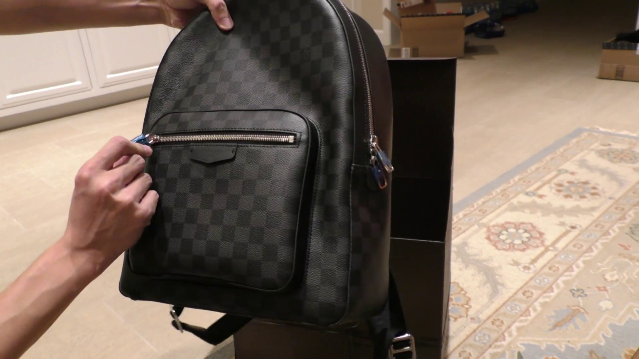 7a60c8cbd0bc LV Backpack unboxing - YouTube