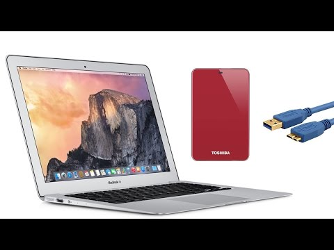 How to connect external HDD usb 3 to macbook air