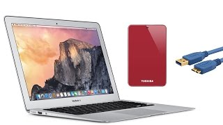 How to connect external HDD USB 3 to Macbook Air ✅