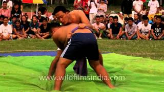 Naga wrestling championship at the 50th Naga Fest