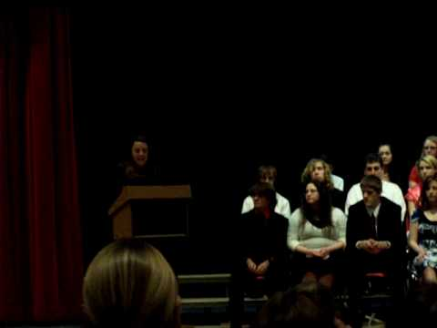 Melissa Stagnaro Speaks at Oxford Academy High School Honor Society Ceremony